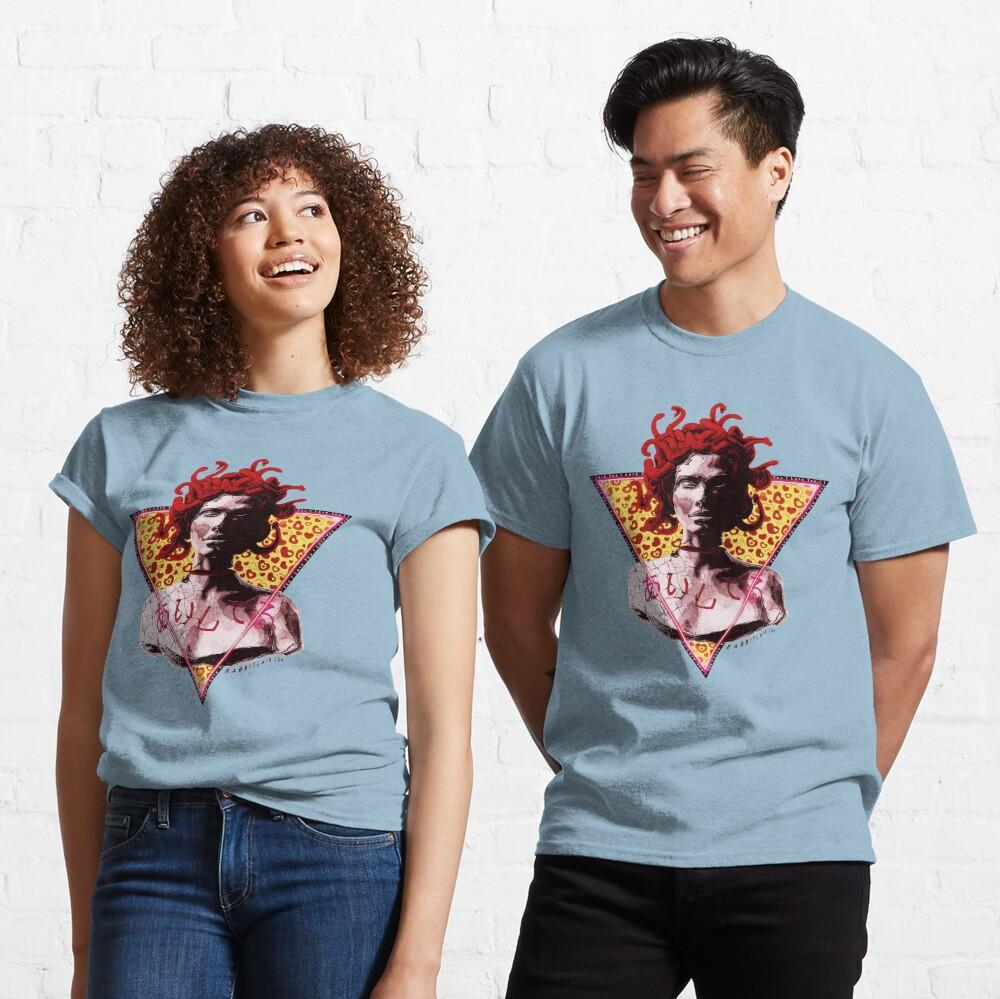 Aesthetic Vaporwave Medusa Statue - I Love You Classic T-Shirt