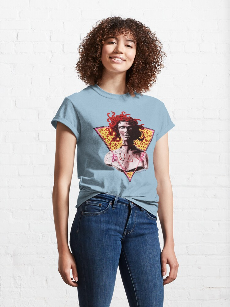Alternate view of Aesthetic Vaporwave Medusa Statue - I Love You Classic T-Shirt