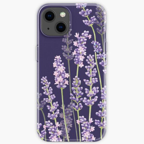 Midnight Lavender Fancy - Purple Flowers iPhone Soft Case