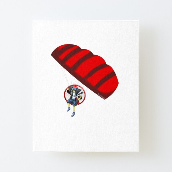 Anime Paramotor by Shandi Designs Canvas Mounted Print