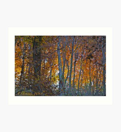 Colorful Essence . Autumn. Galicia. by Andrzej Goszcz. Art Print