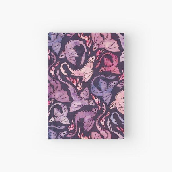 Dragon fire dark pink & purple Hardcover Journal