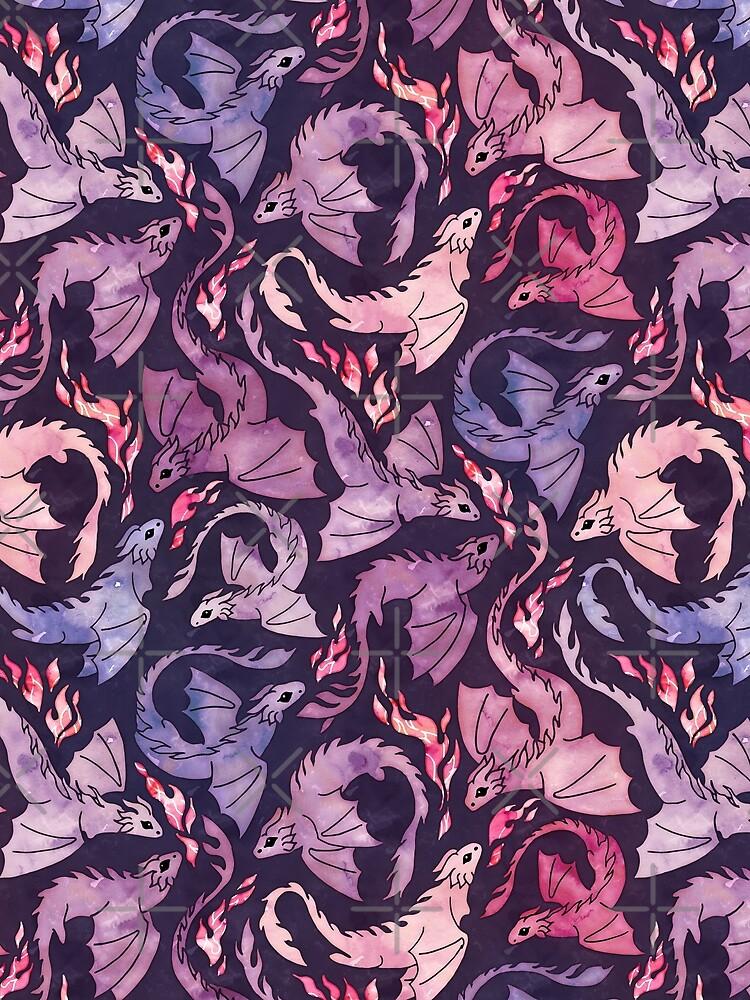Dragon fire dark pink & purple by adenaJ