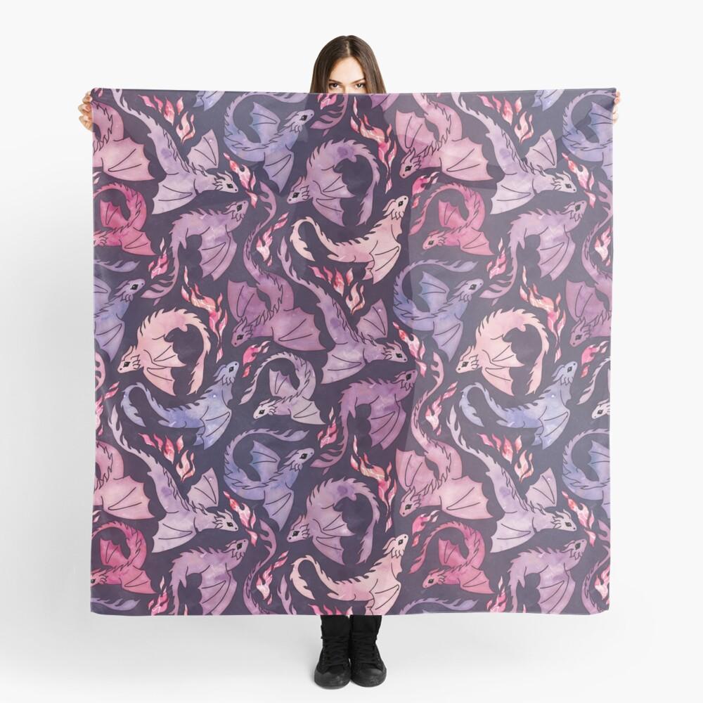 Dragon fire dark pink & purple Scarf
