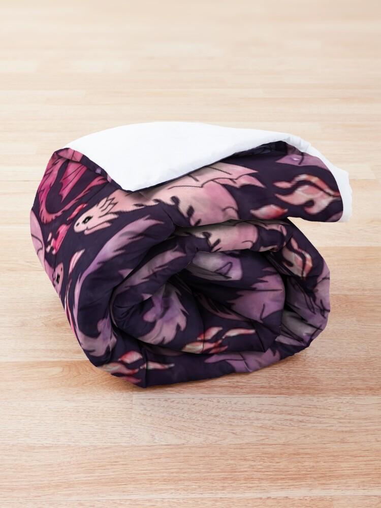 Alternate view of Dragon fire dark pink & purple Comforter