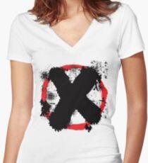 Eugene Skull Skullovitch  Women's Fitted V-Neck T-Shirt
