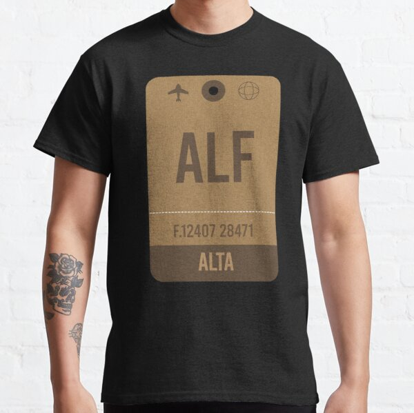 Alta Airport Vintage Luggage Tag Classic T-Shirt