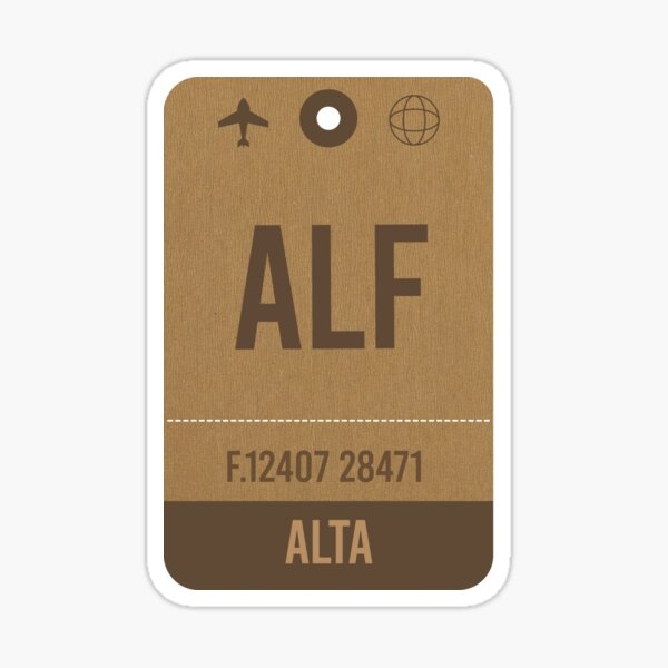 Alta Airport Vintage Luggage Tag Sticker