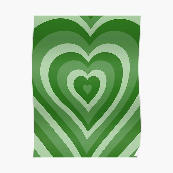 GREEN HEART LATTE Poster