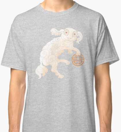 Long Life White Cloud Foo Dog Classic T-Shirt