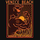 VENICE BEACH MUSCLE BEACH SURFING CALIFORNIA by Larry Butterworth