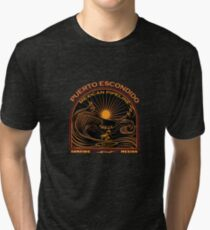 SURFING MEXICAN PIPELINE PUERTO ESCONDIDO Tri-blend T-Shirt