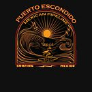 SURFING MEXICAN PIPELINE PUERTO ESCONDIDO by Larry Butterworth