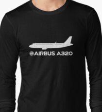 Camiseta de manga larga Dibujo Airbus A320