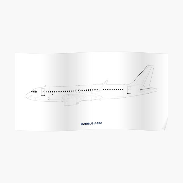 Airbus A320 Drawing Poster