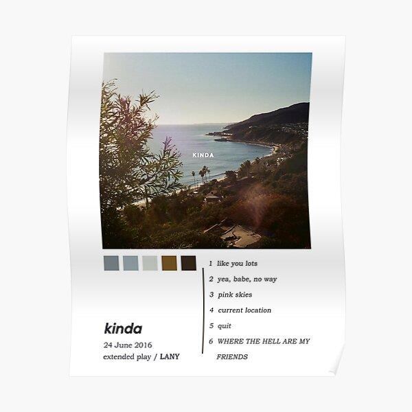 LANY Kinda EP Album Cover Poster Poster