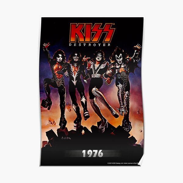 KISS ® the band - Destroyer Year 1976 Poster