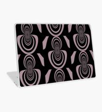 Black lavender mirror image abstract     Laptop Skin