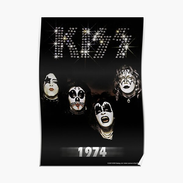 KISS ® the band - 1974 Album - Year Poster