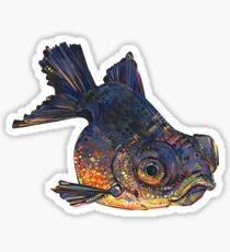 Black telescope goldfish painting - 2016 Sticker