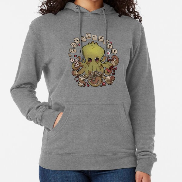 Cthulhu plays board games Lightweight Hoodie
