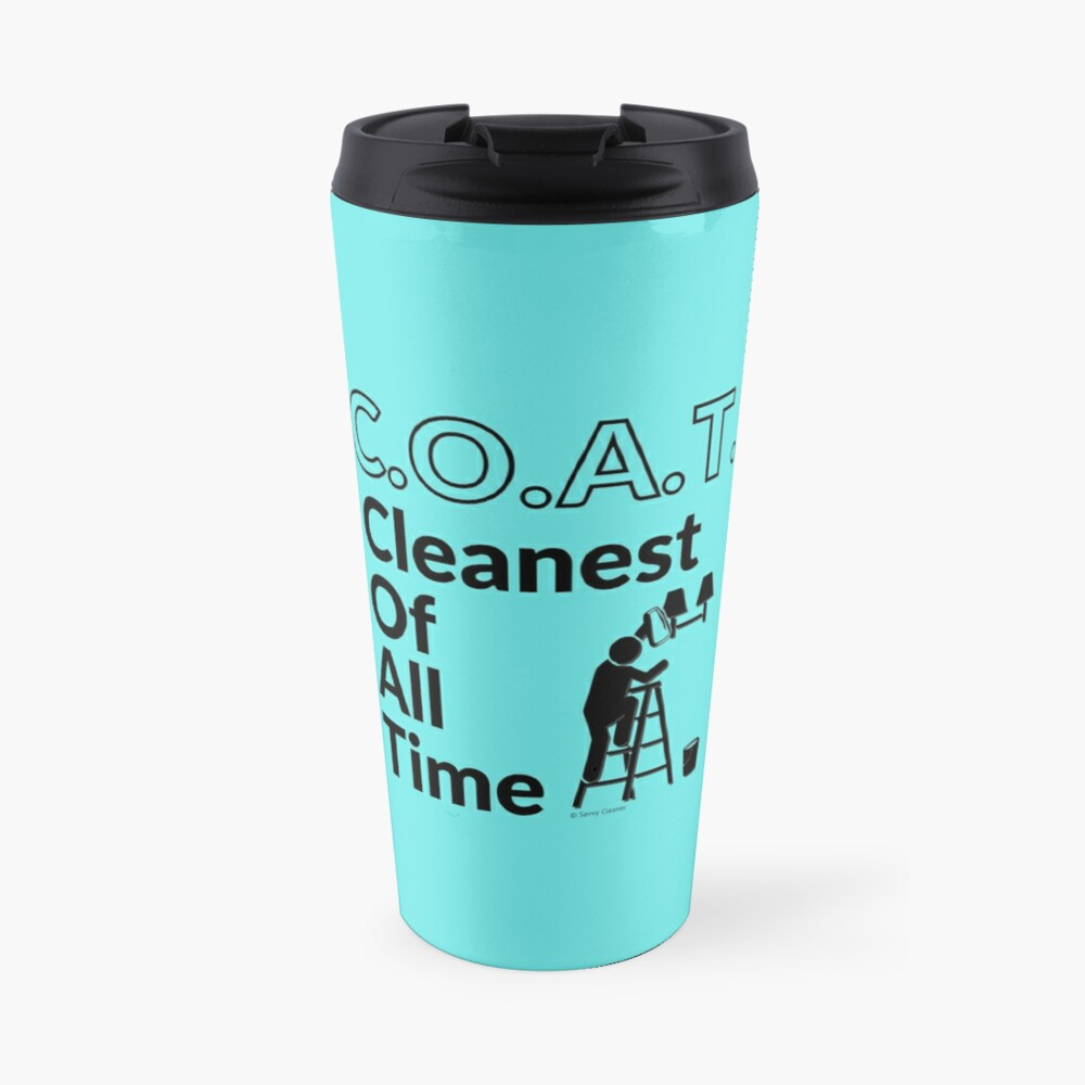 Cleanest Of All Time Housekeeping Ladder And Bucket Humor Travel Mug
