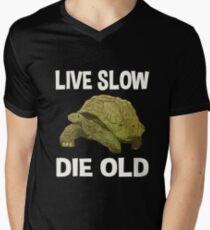 Live Slow, Die Old Mens V-Neck T-Shirt
