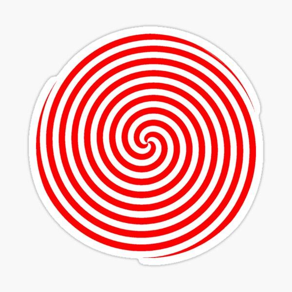 Hypnotic Spiral Pattern Sticker