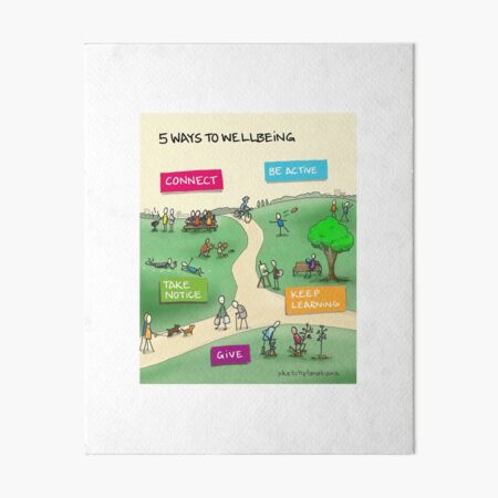 5 ways to wellbeing Art Board Print