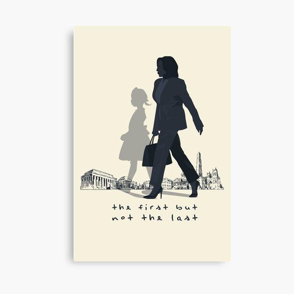 The First Woman Vice President, Ruby Bridges Shadow | Washington DC Background Canvas Print