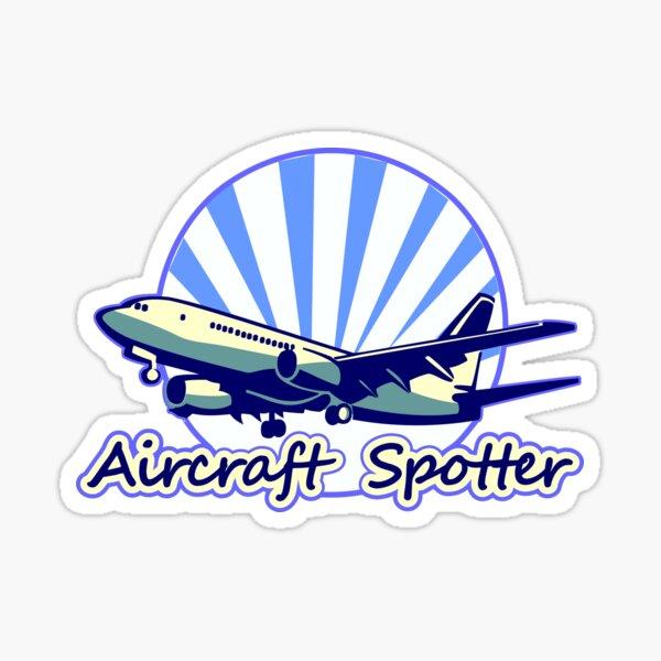Flugzeugspäher blau Sticker