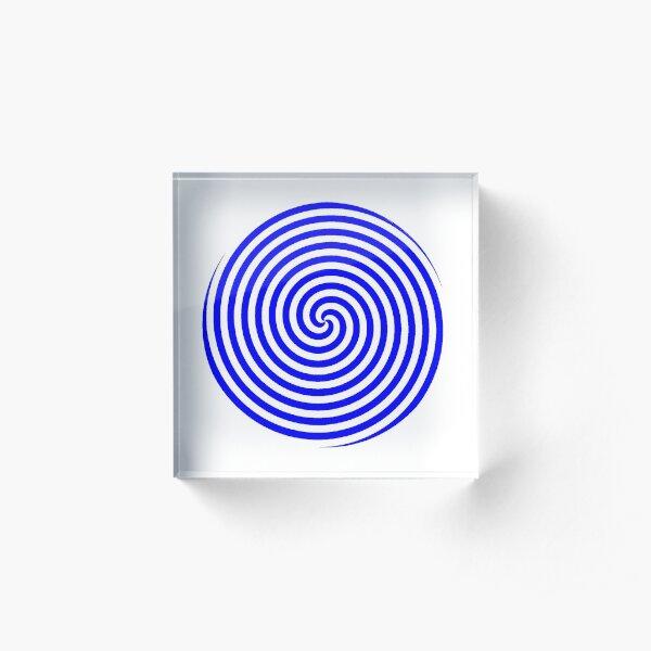 Hypnotic Spiral Acrylic Block