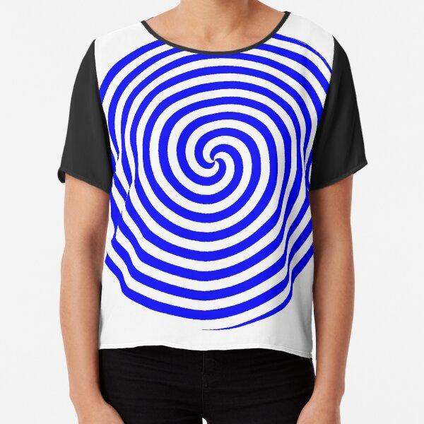 Hypnotic Spiral Chiffon Top