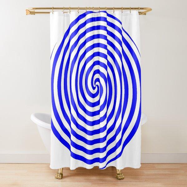 Hypnotic Spiral Shower Curtain