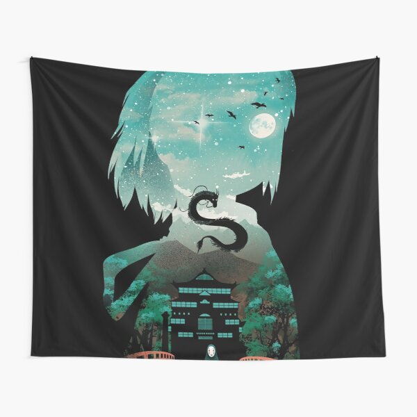 Silhouette Classic Anime Away Tapestry