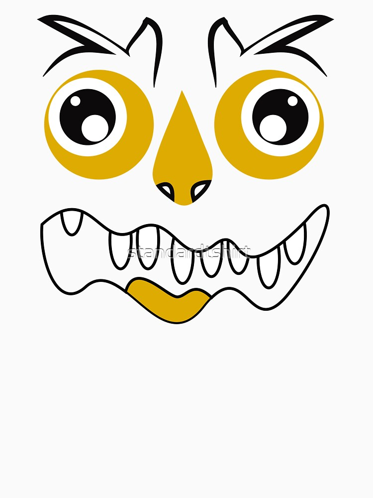 Funny Crazy Face Colorful Funny Face Monster Smile Design by standardtshirt