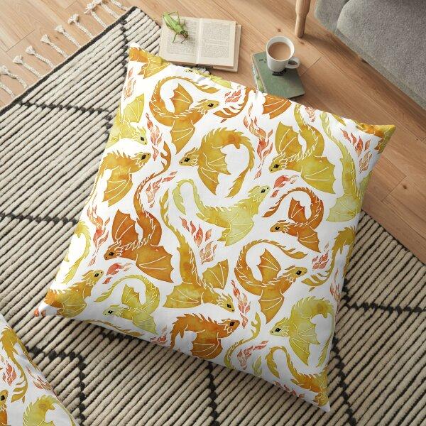 Dragon fire yellow Floor Pillow