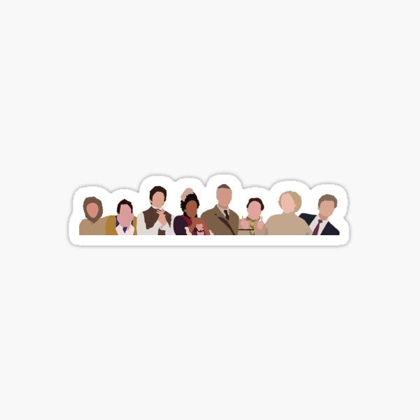 BBC Ghosts print Sticker