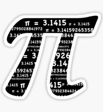 Pi Day Graphic Symbol Sticker