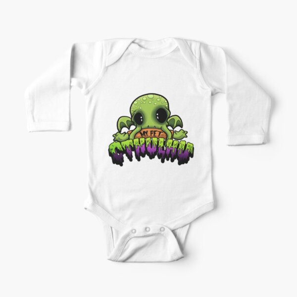Creepies - My Pet Cthulhu Long Sleeve Baby One-Piece