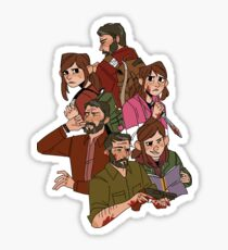 the last of us (clump) Sticker