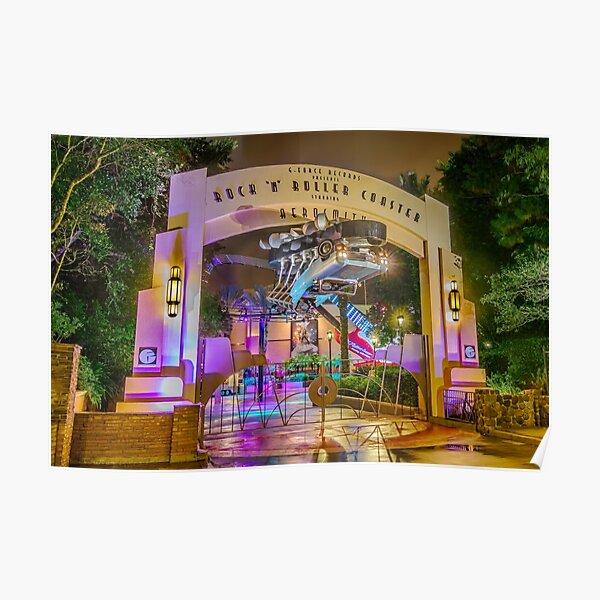 Rock 'n Roller Coaster Gate Poster