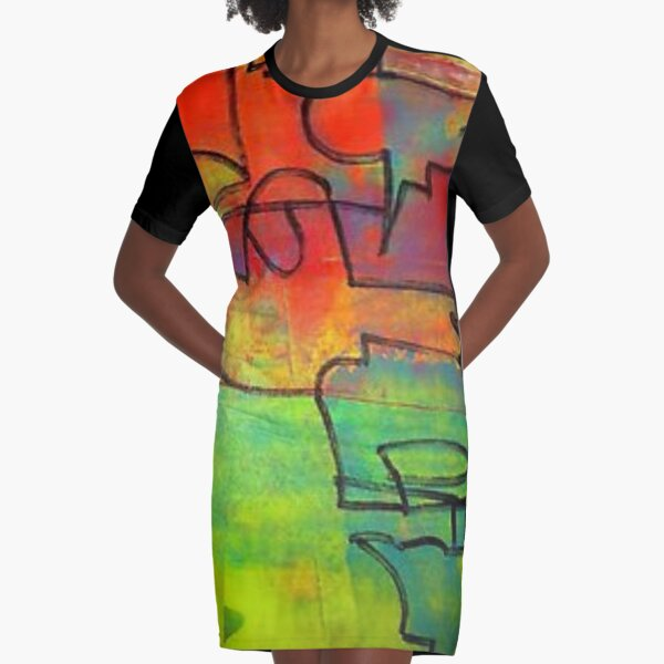 The Grass Is Greener Graphic T-Shirt Dress