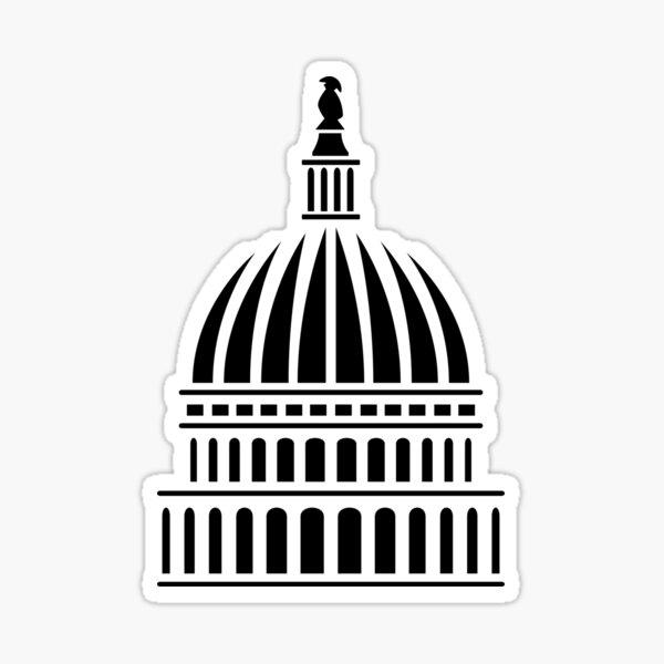 Washington D.C. Capitol Building Dome Sticker