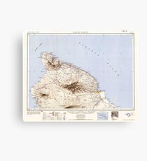 USGS TOPO Map Hawaii HI Hawaii North 349918 1954 250000 Canvas Print