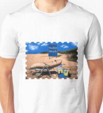 Banane am FKK Strand Unisex T-Shirt