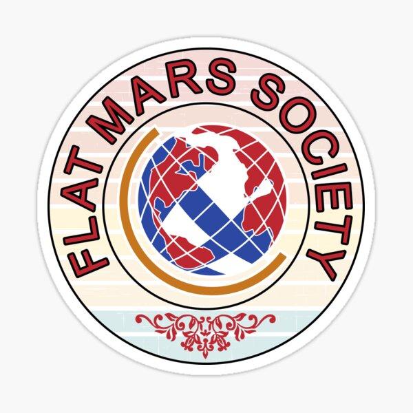 Flat Mars society Sticker