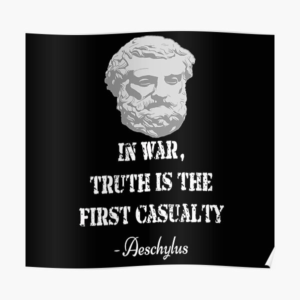 Aeschylus quote Poster