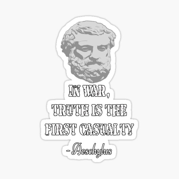 Aeschylus quote Sticker