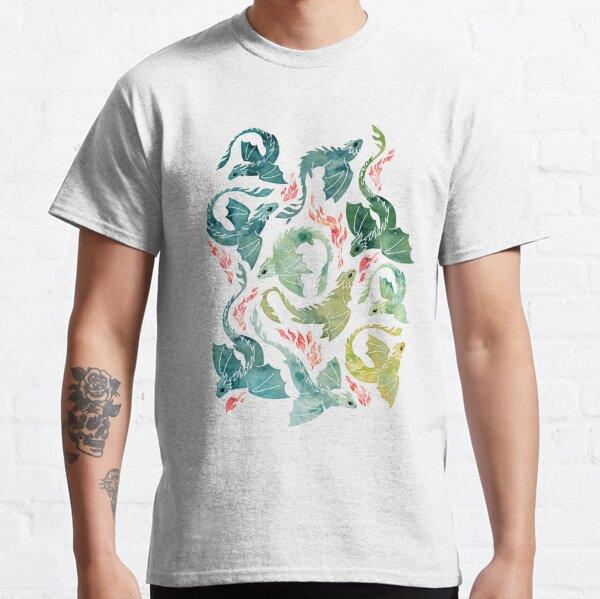 Dragon fire turquoise & green Classic T-Shirt